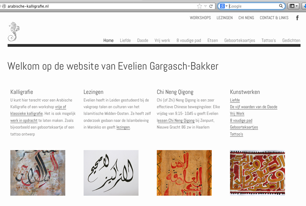 Arabische Kalligrafie en Chi Neng