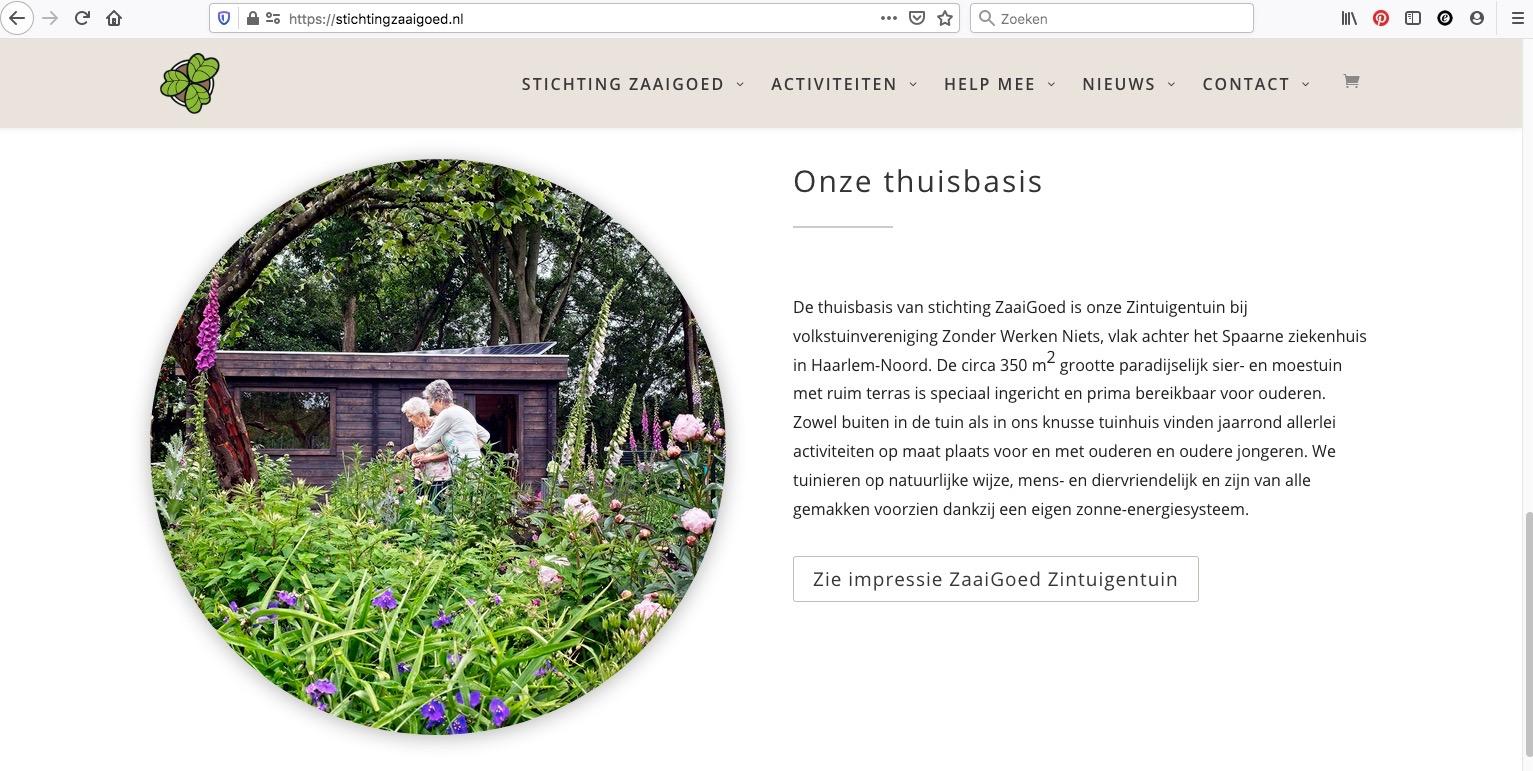 stichting ZaaiGoed website